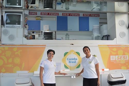 Stand do Cozinha Brasil distribuiu sucos para os presentes