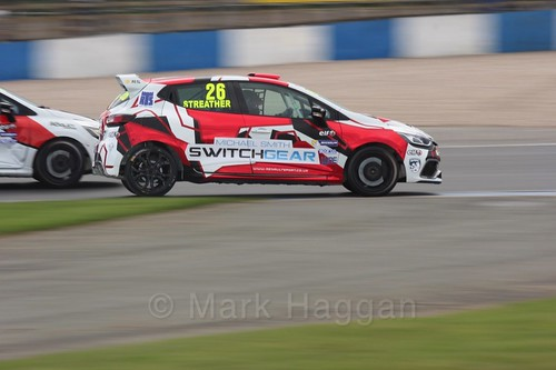 Paul Streather in Renault Clio Cup Race Three at the British Touring Car Championship 2017 at Donington Park