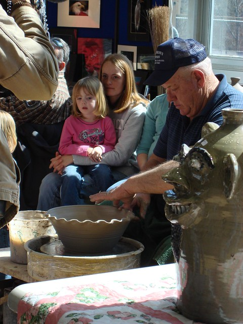 Jerry Brown Demonstrating Pottery at Jerry Brown Arts Festival, Hamilton AL