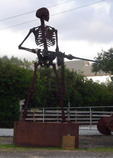 Skeleton With Machine Gun Flickr Photo Sharing