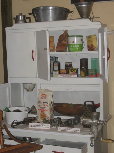 Detail of Hoosier Cabinet