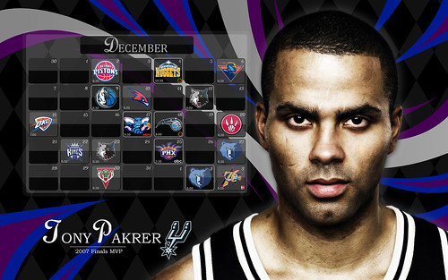 2008 San Antonio Spurs Schedule (December)