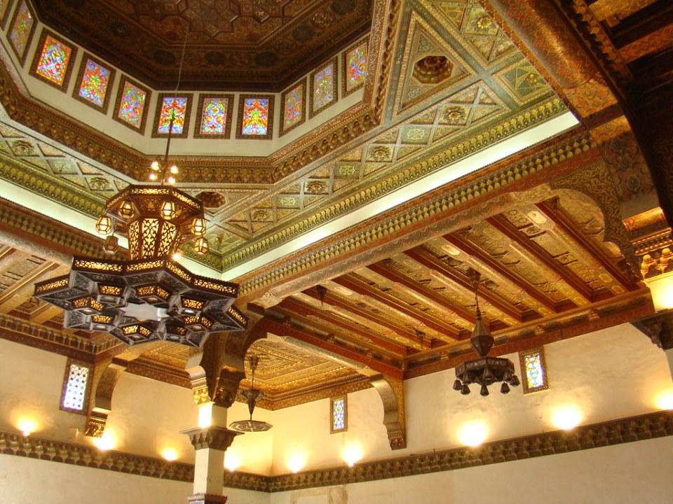 Siria techo Salon del Trono Palacio de Ayyubid Ciudadela de Alepo 62