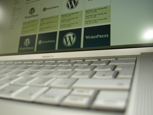 WordPress on MacBook Pro (2008)