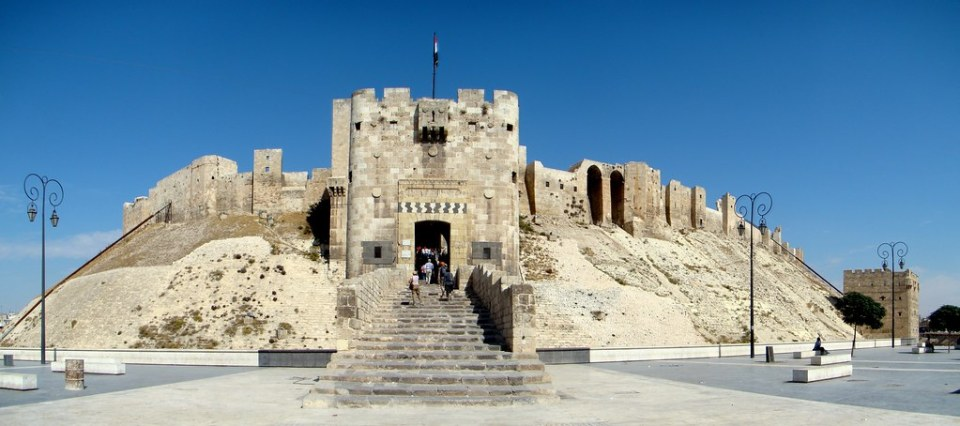 Siria torre del puente Ciudadela de Alepo 14