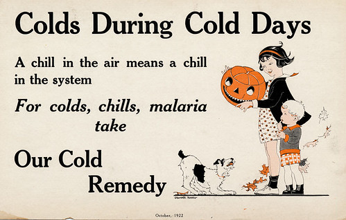 1922 Halloween Colds-Chills-Malaria Card