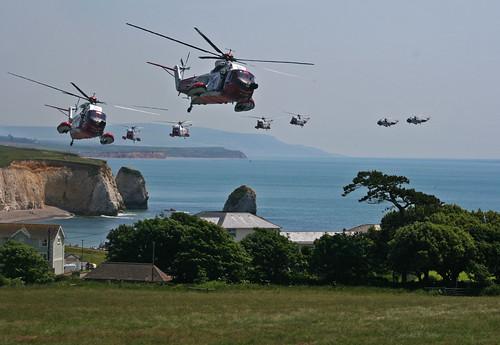 Coastguard Rescue Helicopter (Whiskey Bravo) - Freshwater Bay, Isle of Wight