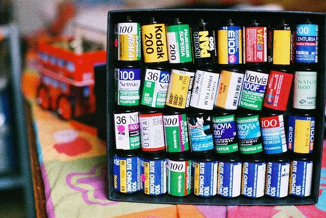 Film rolls collector