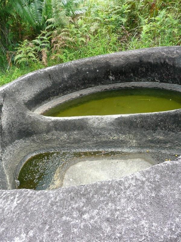 """Megalith relics in Bada Valley (Jar megalith """"Kalamba"""")"""