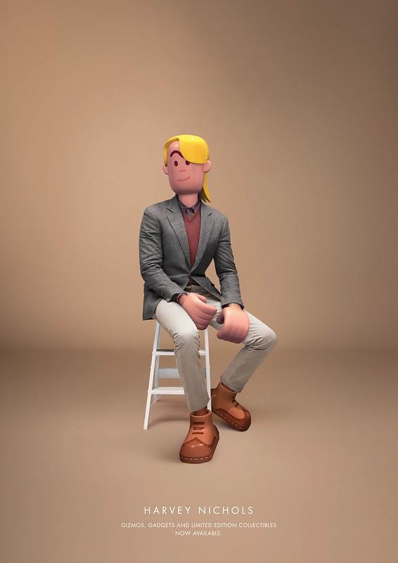 Harvey Nichols - Blond Playmobil