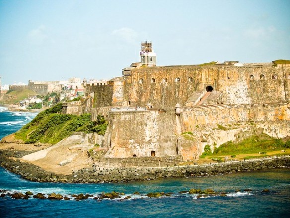 El Morro photos, view from the sea