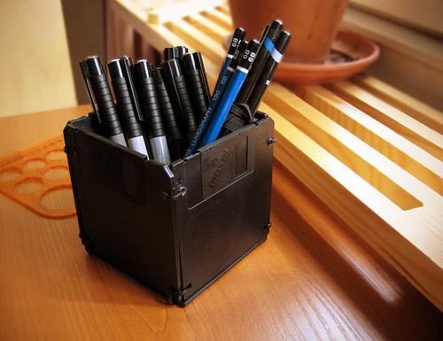 Sunday DIY - Floppy Disk Pen Holder - 5/5 by rintakumpu, on Flickr