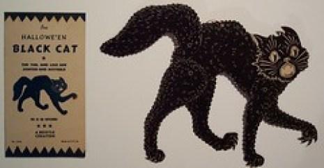 Vintage Halloween Black Cat Beistle