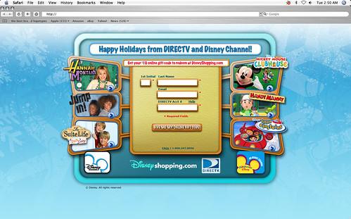 landing page della Disney