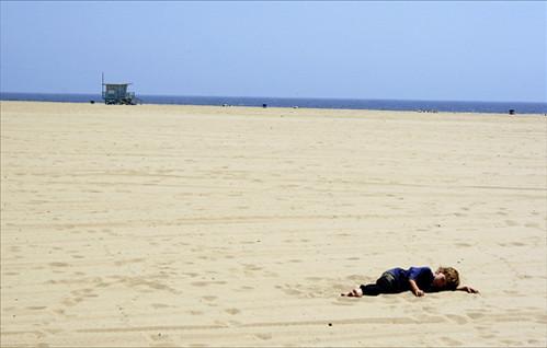 Relaxing at Venice Beach