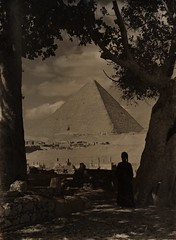 The Cheops Pyramid from the Giza burial ground - 1936