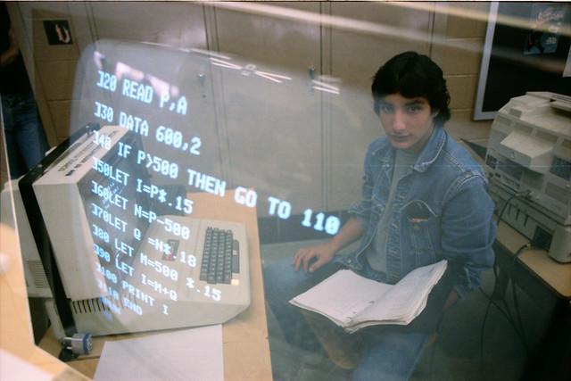 Computer lab, GWHS, 1982-1983