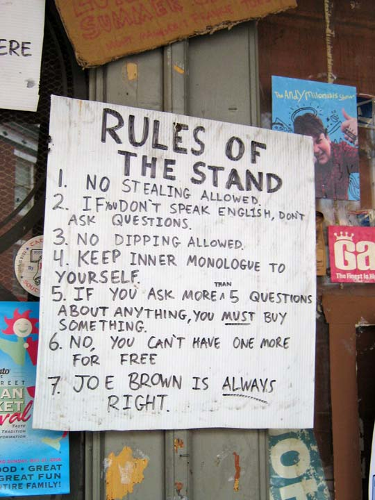 Rules of the Stand
