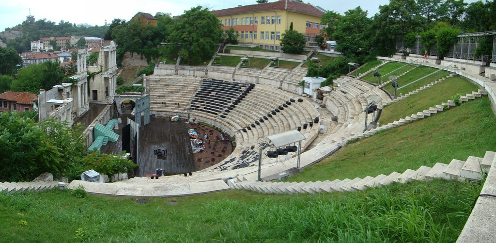 panoramica Anfiteatro Romano Plovdiv Bulgaria 01