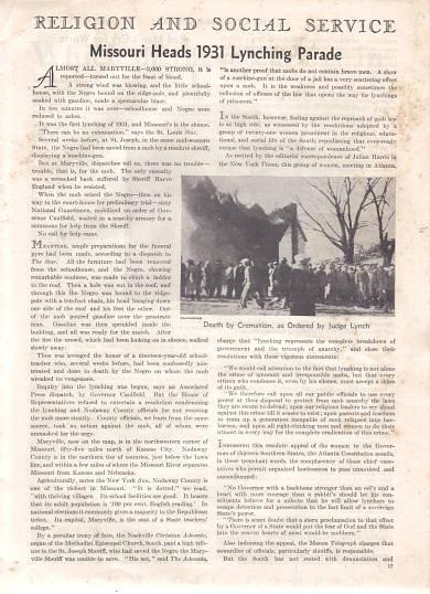 Lynching in Maryville Missouri 1931