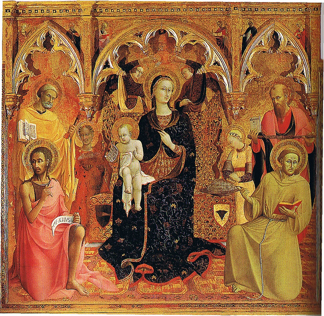 Madonna of the Snow Altarpiece by Sassetta, 1430-1432