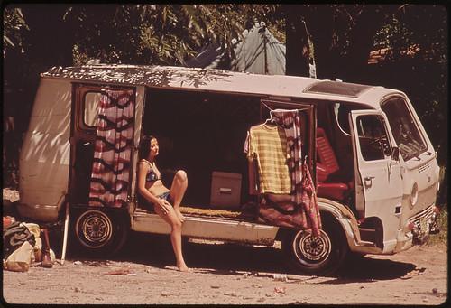 Campers at Garner State Park, 07/1972