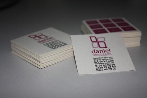 New Business Card Design Print and Cut Manually by me Daniel Condurachi byCodDot