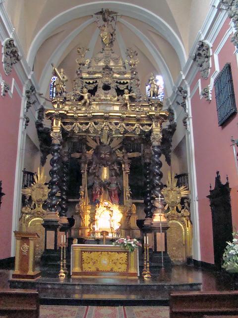 Altar mayor nave central Iglesia de San Felipe y Santiago el Menor Zaragoza 09