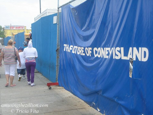 The Future of Coney Island  Construction Banner