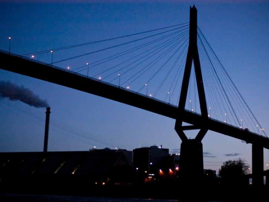 9 Bruggen in Hamburg, Köhlbrandbrücke, foto door Max01 | Standort Hamburg