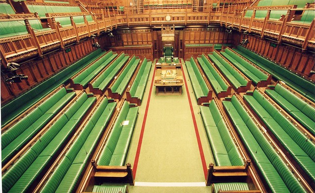House of Commons Chamber - elevated view