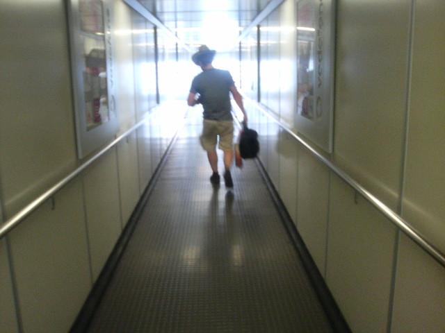 Jón Brian the reporter leaving Belgrade 2008