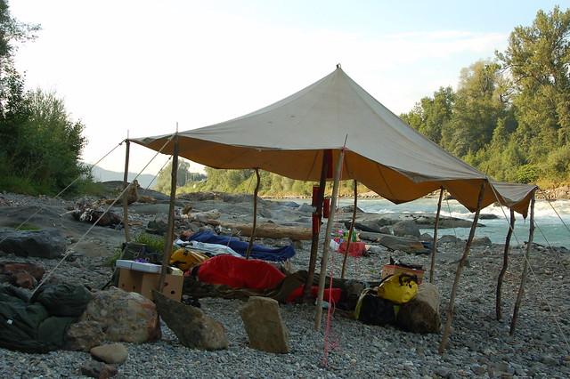 Sleeping on the banks of the Salzach