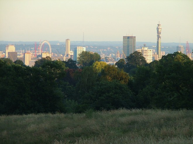 West End from Hampstead Heath