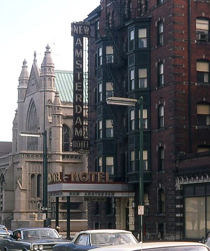 New Amsterdam Hotel Sign Feb 69