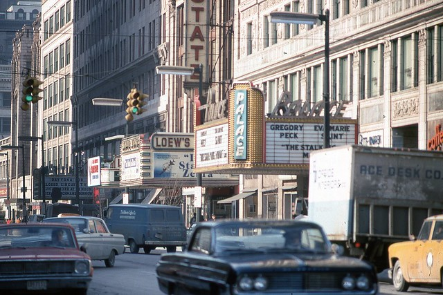Playhouse Square View Cleveland Ohio Jan 1969