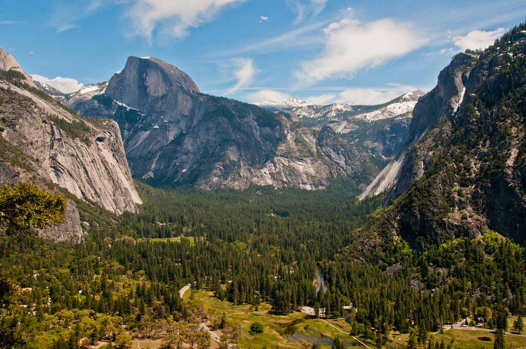 Half Dome, as seen on the path to the Yosemite Falls overlook
