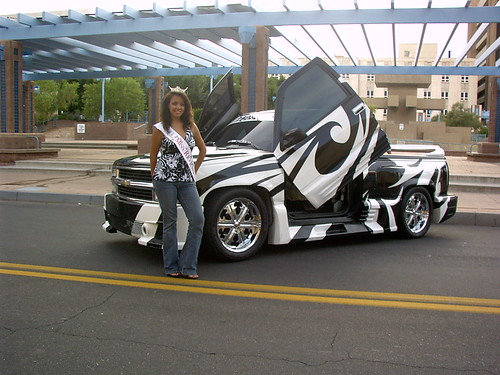 "Joan Marie with Cool Truck by ""Miss New Mexico 2008"" ~ Joan Marie"