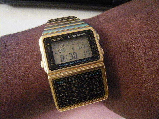 Retro Casio Data Bank Watch. Sick!!!