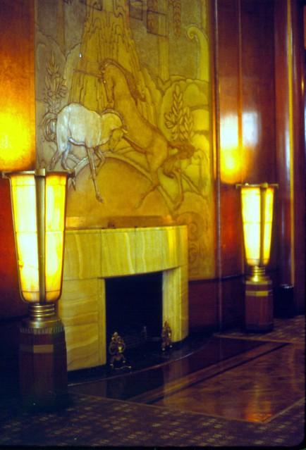 Art Deco Fireplace Rms Queen Mary Long Beach California
