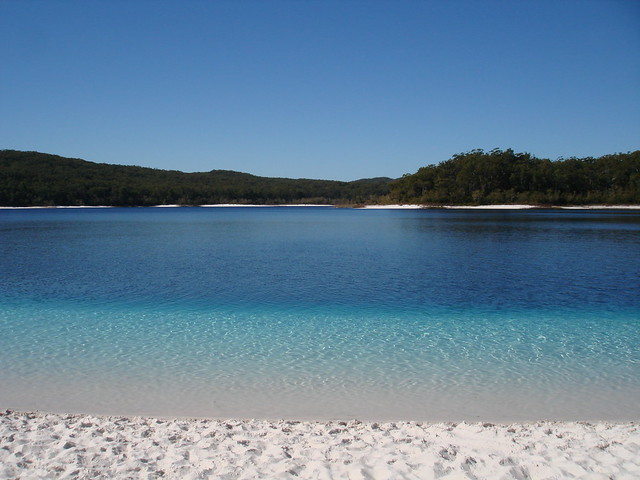 Lake McKenzie on Fraser Island, Australia