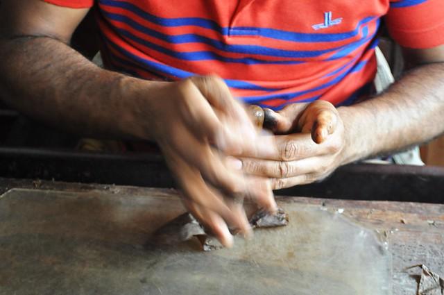 Ramón, a Cigar Roller at La Leyenda del Cigarro Shop, Santo Domingo, Dominican Republic