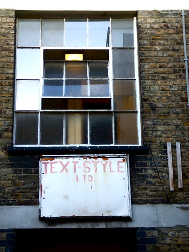 Text-Style, off Brick Lane, East London