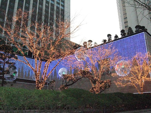 Christmas lights in Seoul