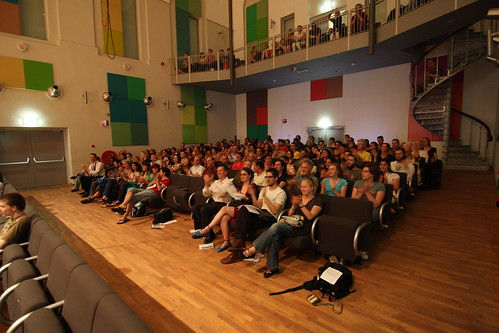 Audience at final exam concert in Utrecht Conservatory, 2008. Photo: F. vd Meer