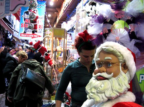 Santa's Helper, Istanbul, Turkey, Nov. 2008