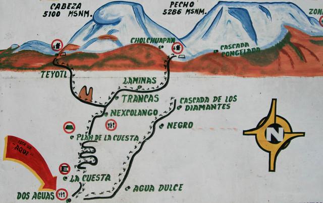 La ruta hacia el Iztaccihuatl