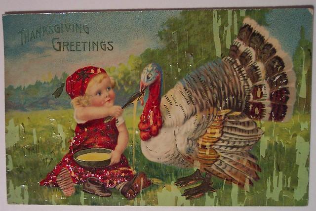 Vintage Thanksgiving Day Postcard Flickr Photo Sharing