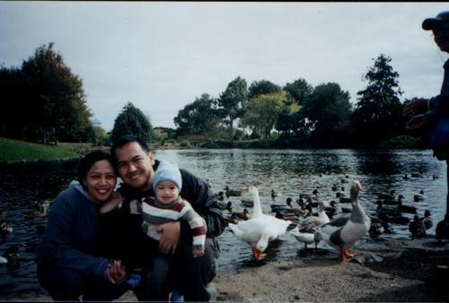 my family with ducks!