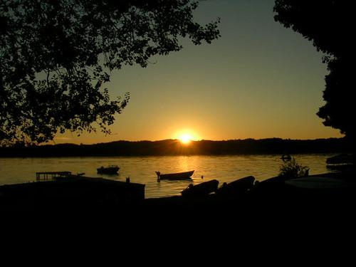 sunset over bass lake